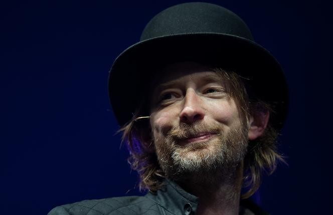 Thom Yorke, chanteur du groupe anglais Radiohead.