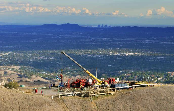 Cliché diffusée le 3 novembre par la compagnie Southern California Gas sur le site de la fuite de méthane, près de Los Angeles.