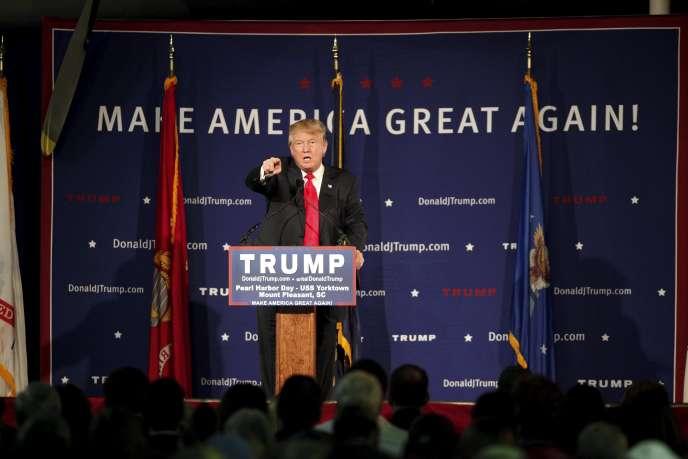 Le candidat républicain, le 7 décembre, en Caroline du Sud.
