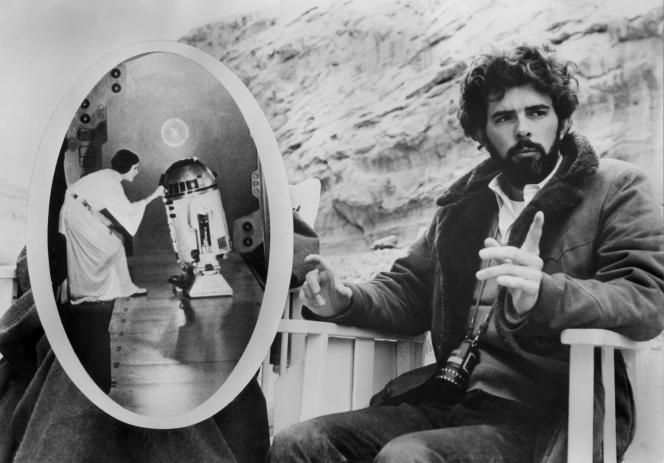 George Lucas sur letournage du premier film de la saga, en 1976.