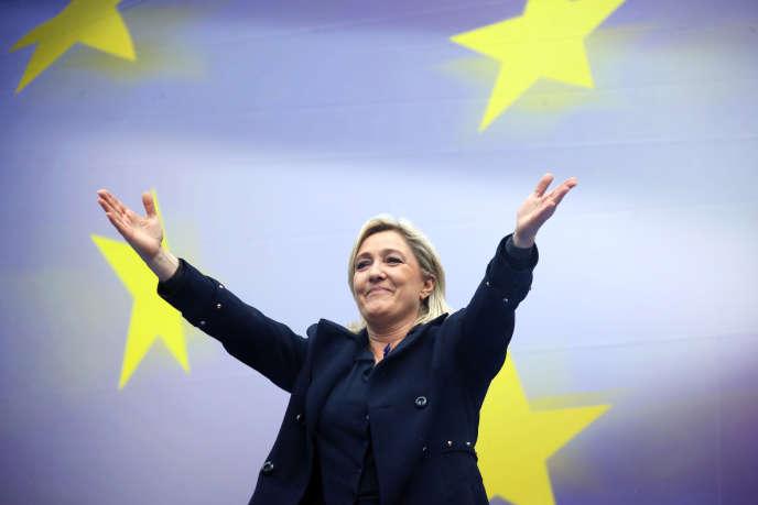 Marine Le Pen le 1er mai 2014 à Paris.