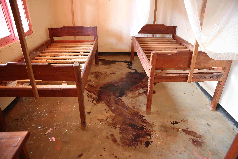 D'après la Mission de l'ONU en RDC, lors de leur attaque, les rebelles ADF-Nalu ont achevé, à la machette et dans leur lit,  sept patients de l'hôpital d'Eringeti.