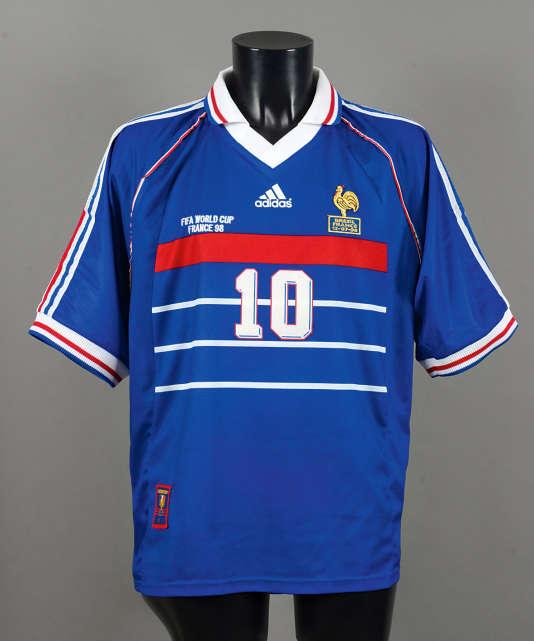 Un maillot de zidane de la finale de 1998 aux ench res drouot - Coupe du monde foot 1998 ...