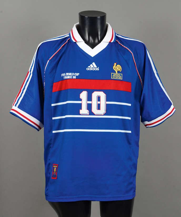 wholesale incredible prices more photos Un maillot de Zidane de la finale de 1998 aux enchères à Drouot
