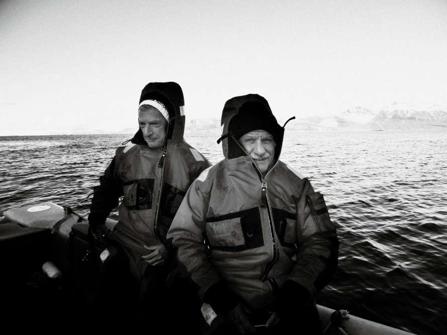 Noël Mamère et Hervé Gaymard en mission parlementaire dans le Spitzberg près du cercle polaire.