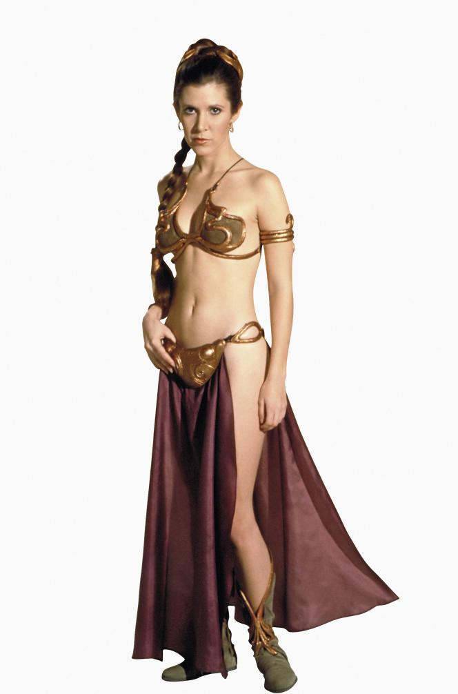 La princesse Leia (Carrie Fisher) en bikini de métal dans «Le Retour du Jedi» (1983).