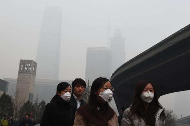 Pékin, 9 décembre 2015. AFP PHOTO / GREG BAKER