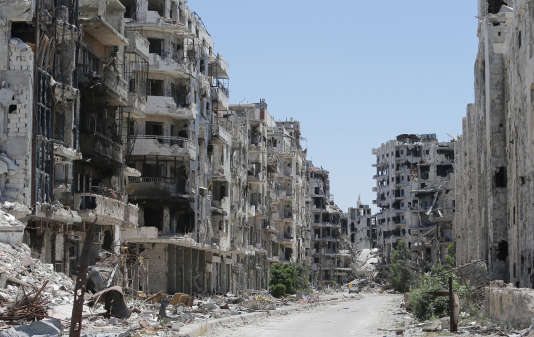 Le quartier de Khaldiyeh, repris par les forces gouvernementales à l'été 2013.