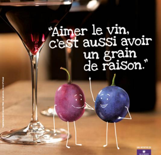 La campagne de publicité lancée par vin et société (ici une capture d'écran du site de la structure) est vivement dénoncée par la Haute autorité de santé.