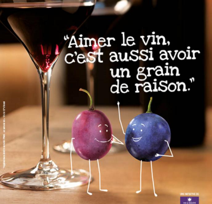 La campagne de publicité lancée par vin et société (ici une capture d'écran du site) est vivement dénoncée par la Haute autorité de santé.