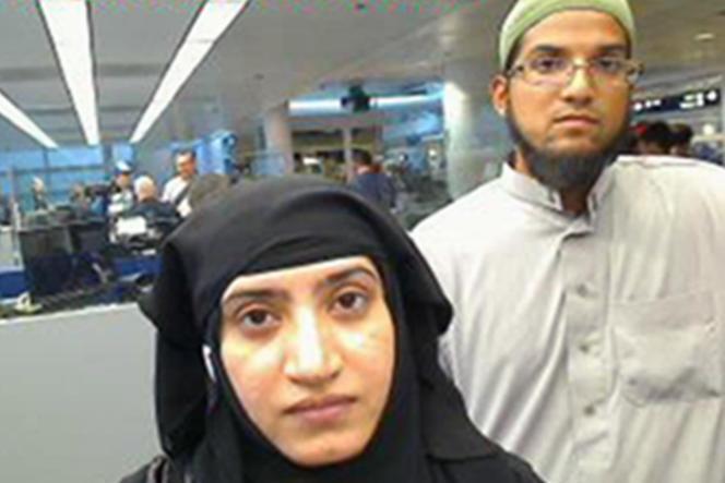 Le couple lors de son retour sur le sol américain, à l'aéroport de Chicago, en 2014.