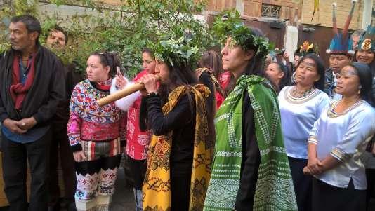 Les représentants des différents peuples autochtones à la Bellevilloise.