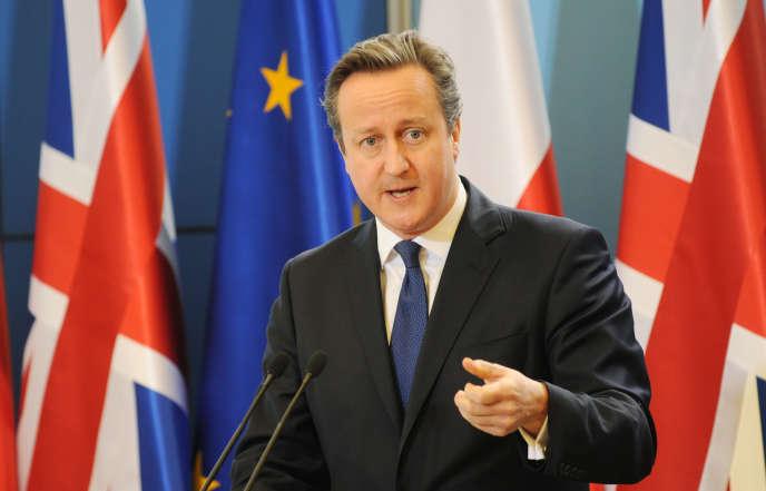 Le premier ministre britannique, David Cameron, lors de sa visite à Varsovie en Pologne, le 10 décembre.