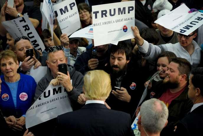 Donald Trump dans un meeting à Spencer (Iowa) le 5 décembre.