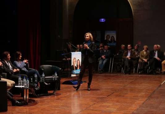 Valérie Pécresse en meetin à Provins le 10 décembre.