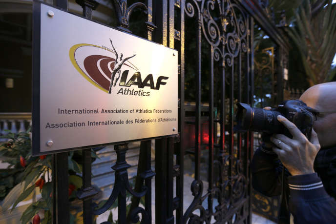 Au siège de l'IAAF, la fédération internationale d'athlétisme, à Monaco.