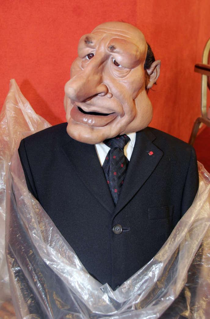 La marionnette de Jacques Chirac, à Cannes, le 17 mai 2005.