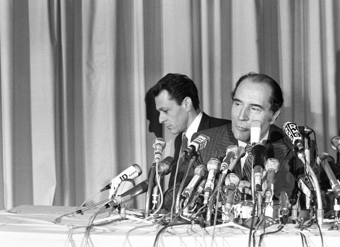 François Mitterrand, à Paris, en 1974.