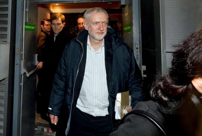 Le dirigeant du Parti travailliste, Jeremy Corbyn, à Londres, le 11 décembre.