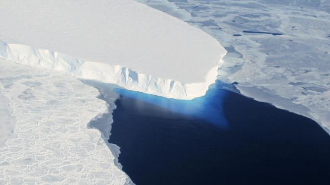 Le glacier Thwaites en Antarctique.