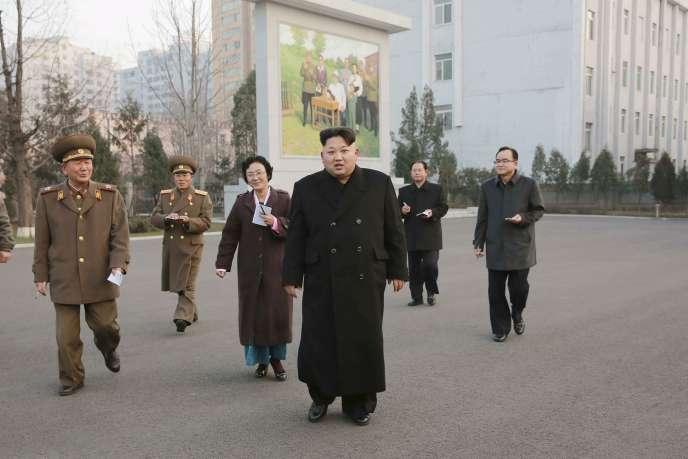 Kim Jong-un, sur une photo diffusée par l'agence officielle KCNA le 10 décembre.