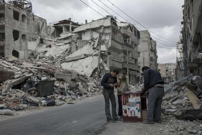 Zamalka, Damas, Syrie, 9 avril 2013.