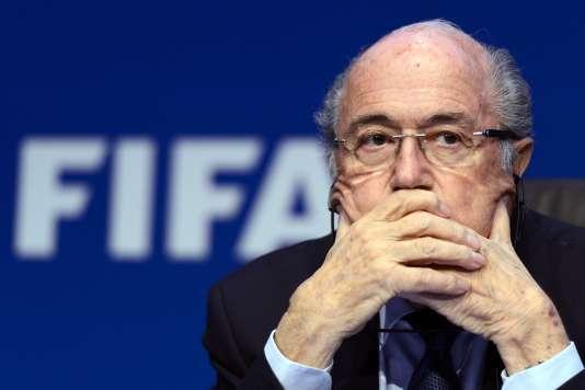 Sepp Blatter, président suspendu de la FIFA, en mai.