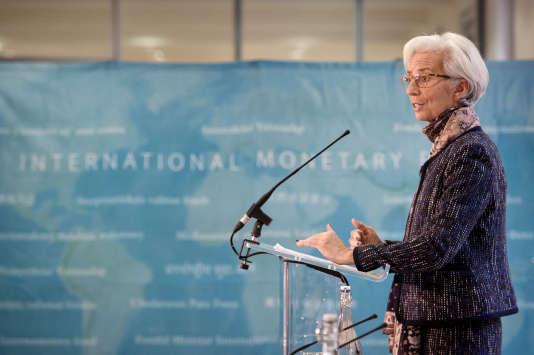 Christine Lagarde, directrice du Fonds monétaire international (FMI), le 11 décembre 2015.