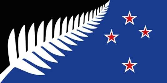 Les Néo-Zélandais devront choisir en mars entre ce drapeau et l'actuel où figure l'Union Jack.
