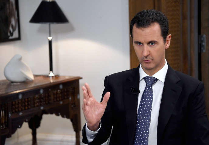 Bachar Al-Assad lors d'une interview en décembre 2015.