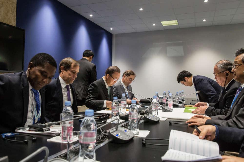Réunion bilatérale avec la délégation chinoise.