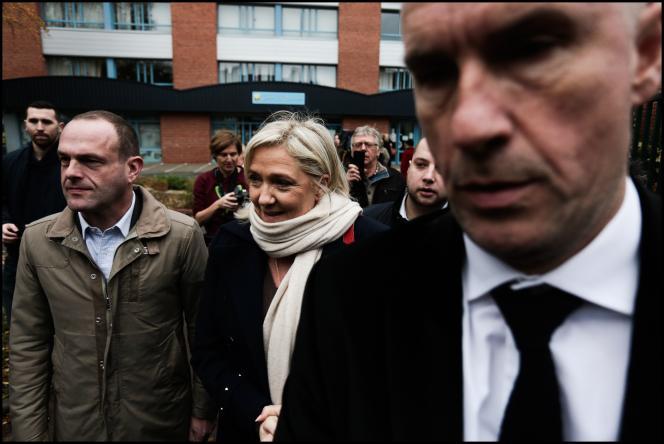 Marine Le Pen à Hénin Beaumont le 6 décembre 2015.