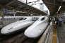 Le train à grande vitesse Shinkansen, à Tokyo.