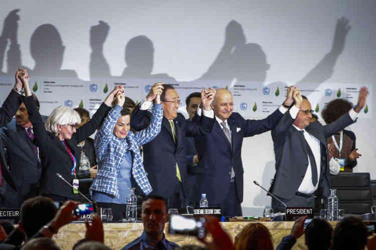 L'accord final de Paris sur le climat a été adopté par 195 pays lors de la COP21 au Bourget le 12 Décembre.
