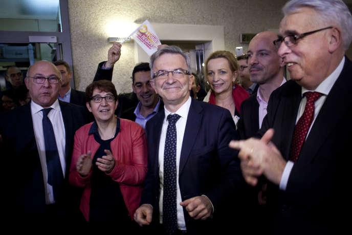 Soiree electorale a l' hôtel de région Centre-Val-de Loire a Orléans. Victoire de Francois Bonneau PS.