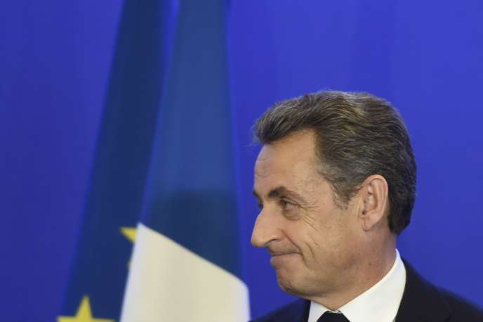 Nicolas Sarkozy au siège du parti Les Républicains, dimanche 13 décembre à Paris.