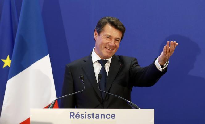 Christian Estrosi, le 13 décembre à Nice après sa victoire au second tour des élections régionales en Provence-Alpes-Côtes d'Azur.