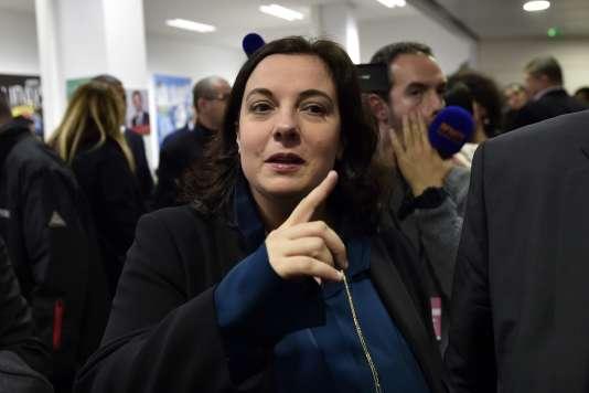 Emmanuelle Cosse, au siège du PS, le 13 décembre 2015.