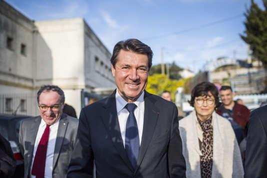 Christian Estrosi, le candidat LR, à Nice le 13 décembre.