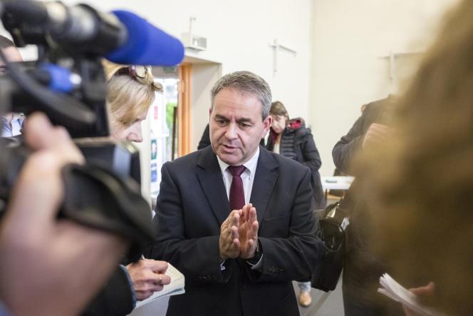 Xavier Bertrand, à Saint-Quentin le 13 décembre.