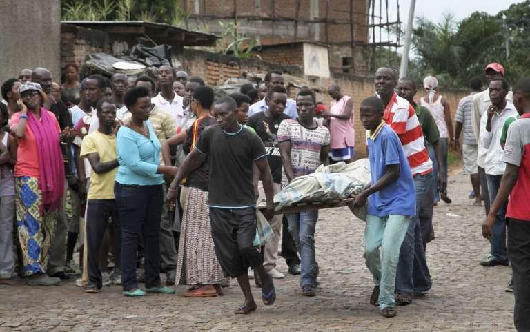 A Bujumbura, dans le quartier de Nyakabiga, samedi 12 décembre.