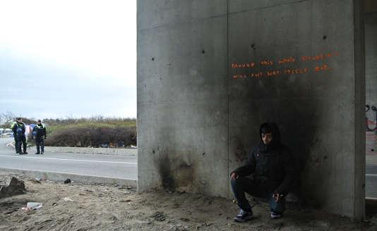 Une inscription réalisée par Banksy à Calais.