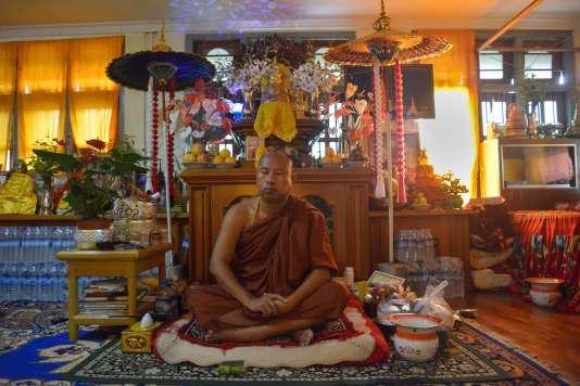 Le moine Koyin Lay dans son monastère situé dans l'Etat Shan, en Birmanie.