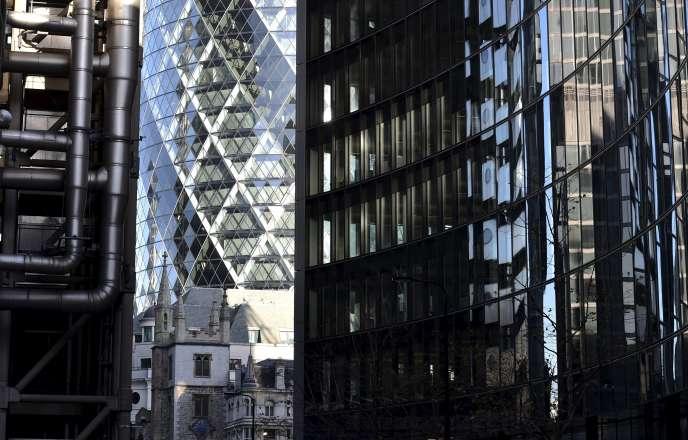 Le quartier de la City, à Londres.