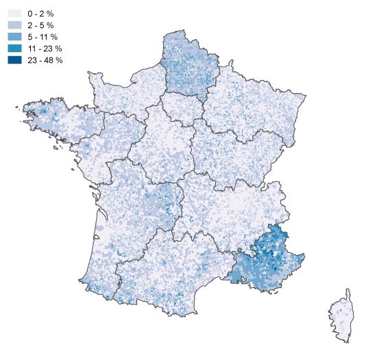 La carte du vote blanc au second tour