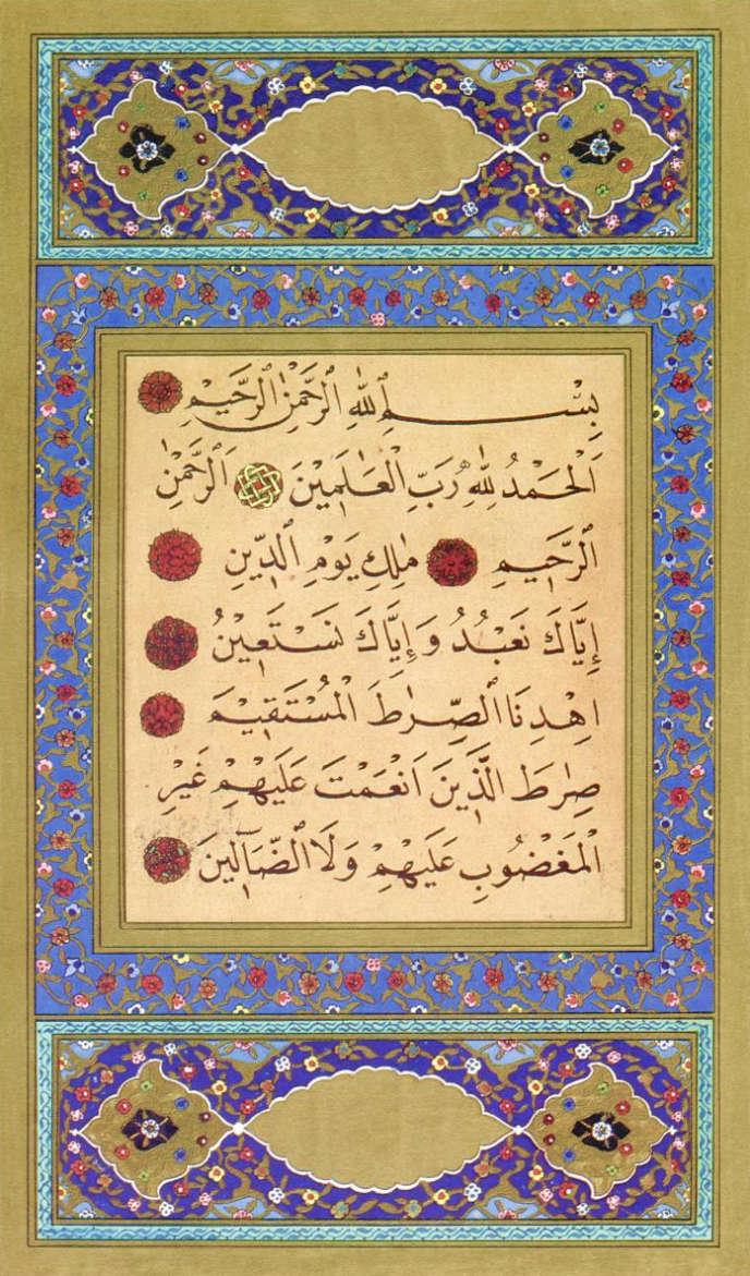 Le «naskh», l'une des plus anciennes typographies arabes d'imprimerie, celle qu'on utilise pour retranscrire  le Coran.
