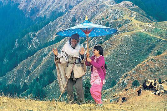 "Shreya Sharma dans le film indien de Vishal Bhardwaj, ""L'Ombrelle bleue""."