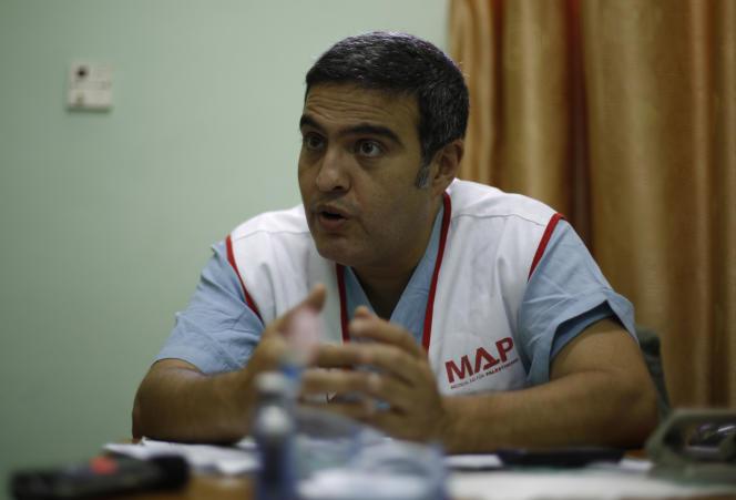 Le docteur Ghassan Abu Sitta, à Gaza, le 3 août 2014.