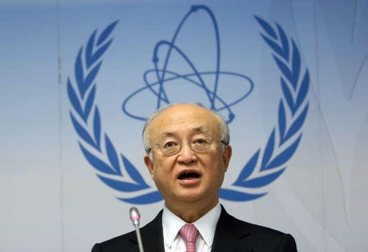 Le directeur général de l'Agence internationale de l'énergie atomique, Yukiya Amano, le 15 décembre à Vienne, en Autriche.