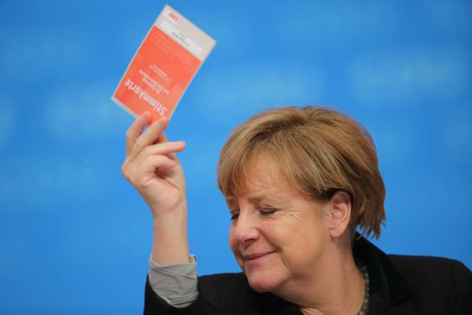 La chancelière allemande, Angela Merkel, à Karlsruhe (Bade-Wurtemberg), lundi 14 décembre.